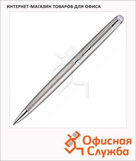 Ручка шариковая Waterman М, синяя, сталь/хром корпус
