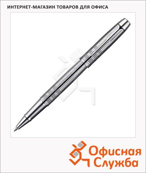 Ручка-роллер Parker IM Premium T222 F, черная, хром корпус
