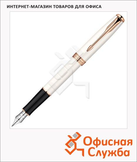 Ручка перьевая Parker Sonnet F540 F, жемчужный корпус