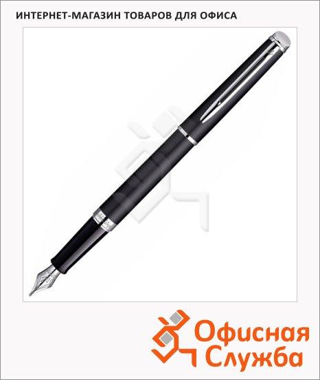 фото: Ручка перьевая Waterman Hemisphere F черно-серебристый корпус, S0920510