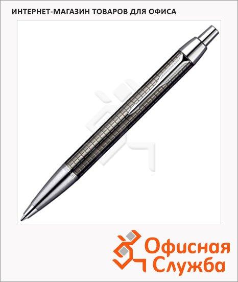 Ручка шариковая Parker IM Premium K222 М, синяя, темно-серый корпус