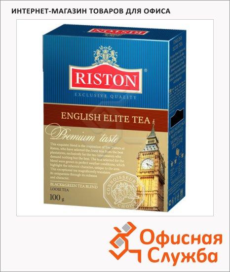 фото: Чай Riston English Elite листовой, черный с зеленым, 200 г