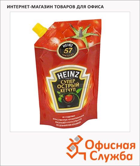 фото: Кетчуп Heinz супер острый 350г, пакет