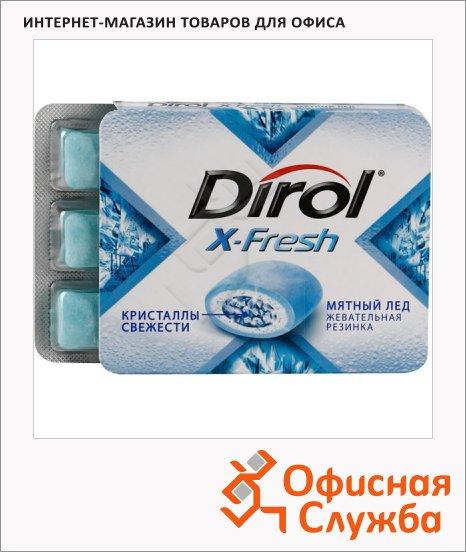 Жевательная резинка Dirol X-Fresh мятный лед, 12уп х 9шт