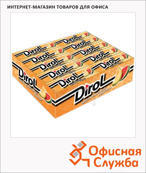 Жевательная резинка Dirol арбуз-дыня, 30уп х 10шт