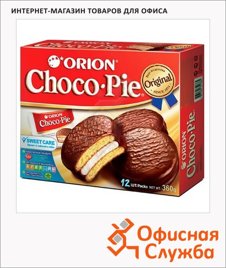 фото: Бисквит Choco-Pie 360г 12шт