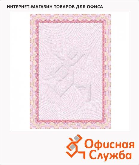 Сертификат-бумага Decadry красная спираль, А4, 115г/м2, 25 листов