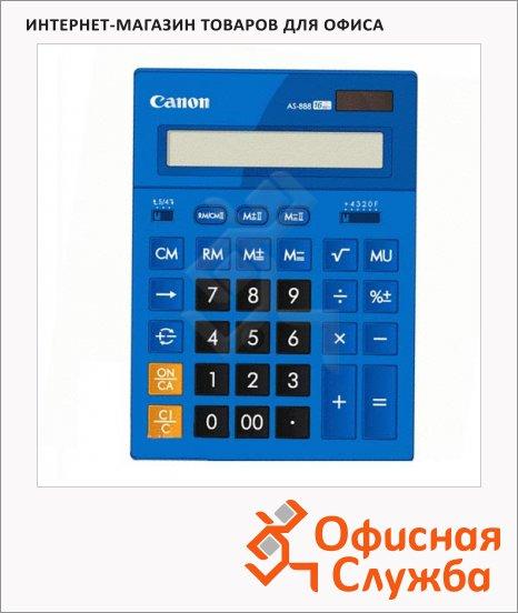 фото: Калькулятор настольный Canon AS 888 синий 16 разрядов