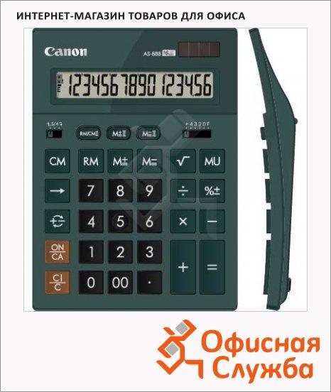 фото: Калькулятор настольный Canon AS 888 изумрудный 16 разрядов