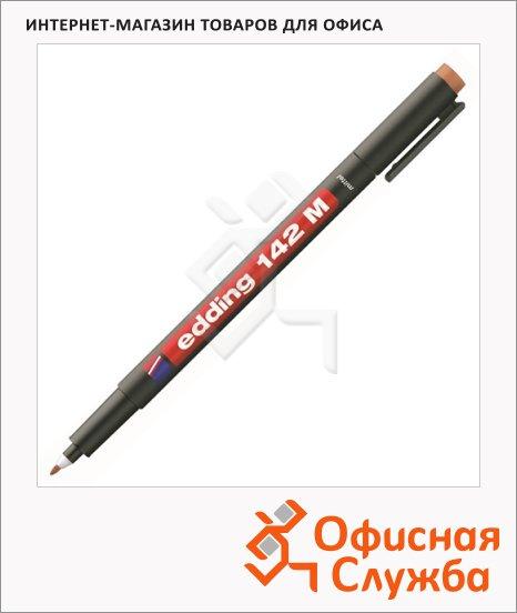 Маркер для пленок Edding 142М коричневый, 1мм, круглый наконечник, для деликатных гладких поверхностей