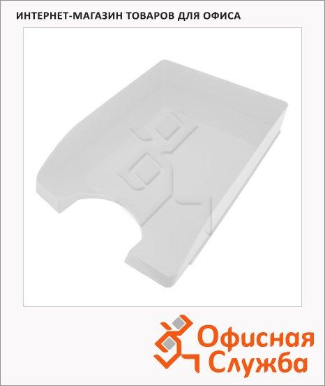 Лоток горизонтальный для бумаг Оскол-Пласт А4, белый глянец, 9058