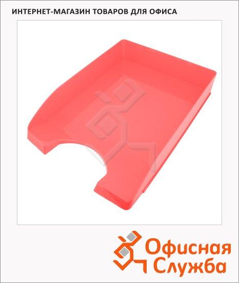 фото: Лоток горизонтальный для бумаг Оскол-Пласт А4 красный, 9047