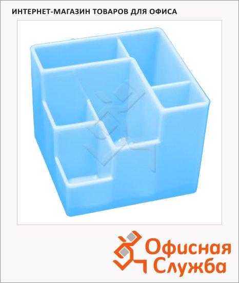 фото: Органайзер настольный Оскол-Пласт 6 секций голубой