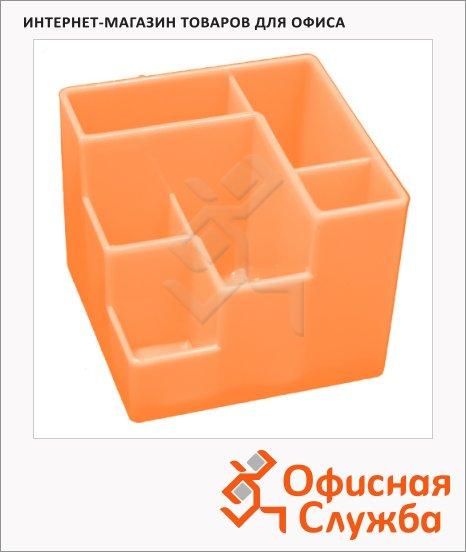 фото: Органайзер настольный Оскол-Пласт 6 секций оранжевый