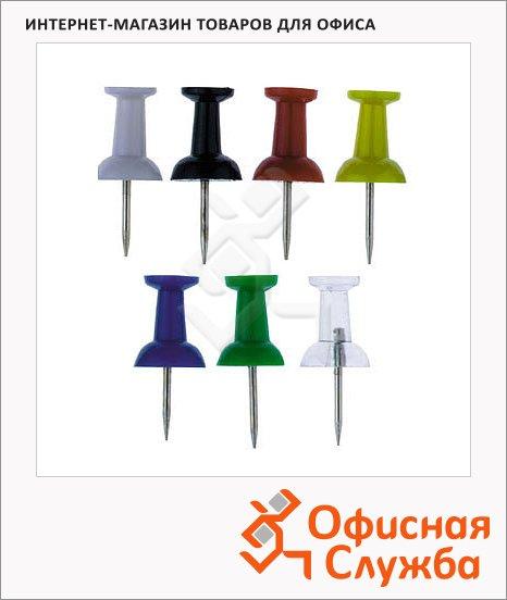 фото: Кнопки для пробковых досок Alco цветные 40 шт/уп, гвоздики