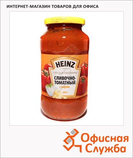 фото: Соус для спагетти сливочно-томатный с сыром 450г, стекло