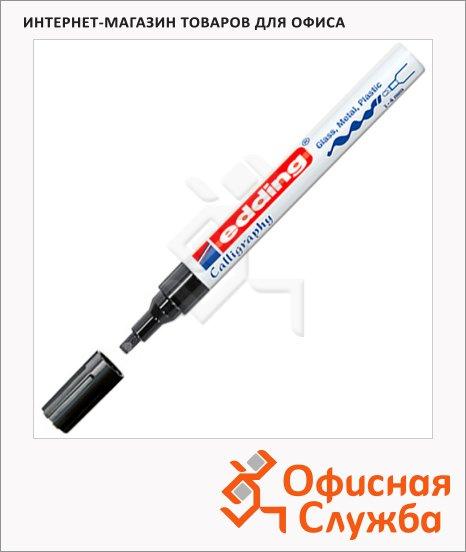 фото: Маркер для каллиграфии Edding 755 черный 1-4мм, клиновидный наконечник, для металла и гладких поверхностей