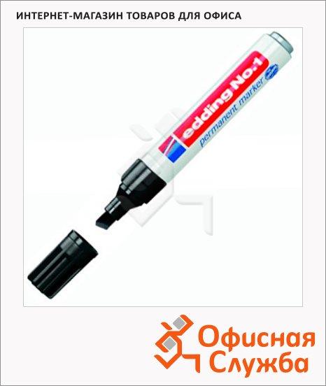 Маркер перманентный Edding 1 черный, 1-5мм, скошенный наконечник, заправляемый