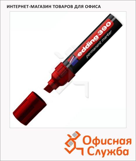 фото: Маркер перманентный Edding 390 красный 4-12мм, скошенный наконечник, универсальный, заправляемый