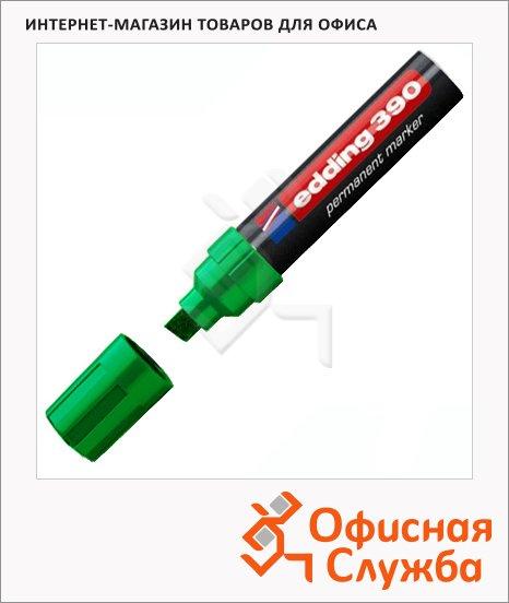 фото: Маркер перманентный Edding 390 зеленый 4-12мм, скошенный наконечник, универсальный, заправляемый