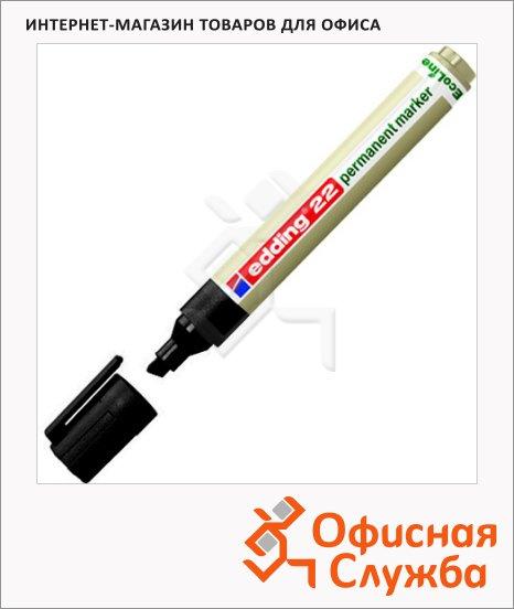 Маркер перманентный Edding ECO 22 черный, 1-5мм, скошенный наконечник, универсальный, без запаха