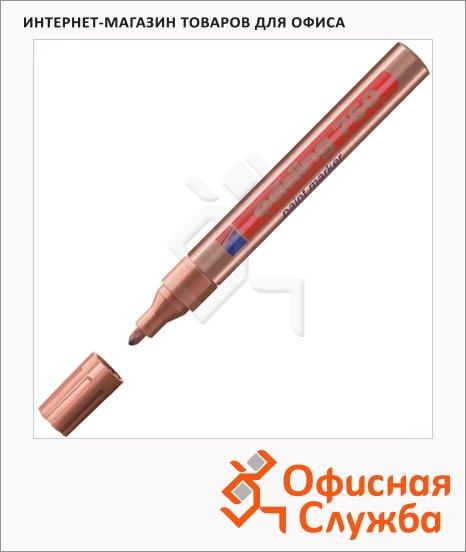 Маркер промышленный перманентный Edding 750 медный, 2-4мм, универсальный, алюминиевый корпус, круглый наконечник, лаковый
