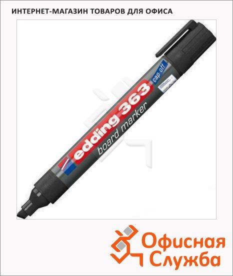 фото: Маркер для досок Edding 363 черный 1-5мм, скошенный наконечник, заправляемый