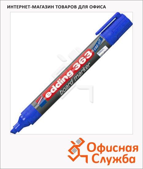 фото: Маркер для досок Edding 363 синий 1-5мм, скошенный наконечник, заправляемый