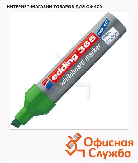 фото: Маркер для досок Edding 365 зеленый 2-7мм, скошенный наконечник, заправляемый