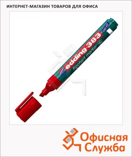 Маркер для флипчарта Edding 383 красный, 1-5мм, скошенный наконечник, cap off