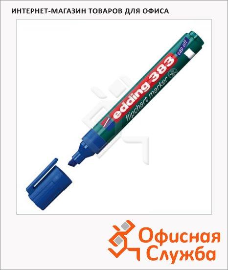 фото: Маркер для флипчарта Edding 383 синий 1-5мм, скошенный наконечник, cap off