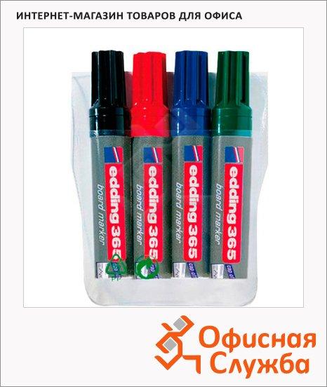 фото: Маркер для досок Edding 365 набор 4 цвета 2-7мм, скошенный наконечник, заправляемый