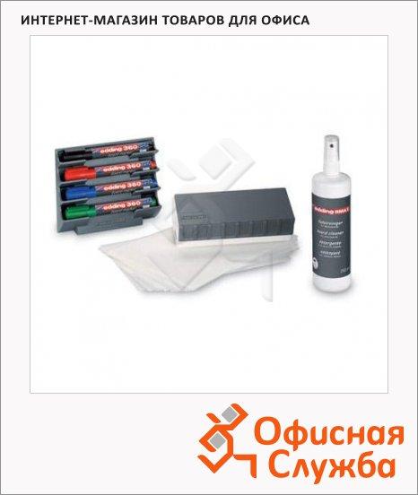 Набор для магнитной маркерной доски Edding 4 предмета