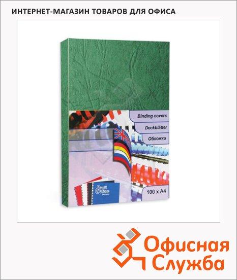 фото: Обложки для переплета картонные Profioffice зеленые А4, 270 г/кв.м, 100шт, 29003