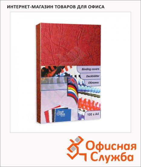 Обложки для переплета картонные Profioffice красные, А4, 270 г/кв.м, 100шт, 29004