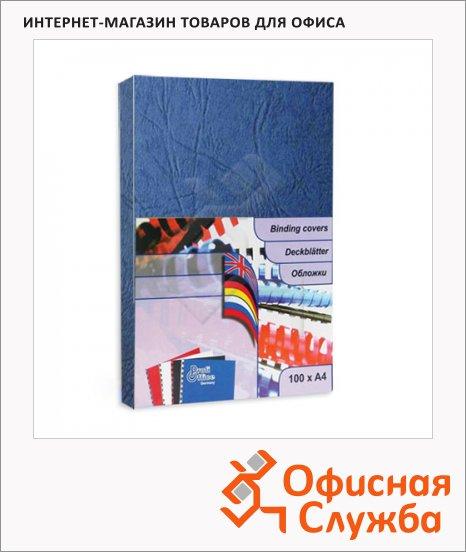 Обложки для переплета картонные Profioffice синие, А4, 270 г/кв.м, 100шт, 29005