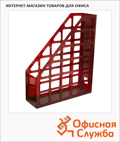 фото: Накопитель вертикальный для бумаг Оскол-Пласт А4 70мм, красный, 9046
