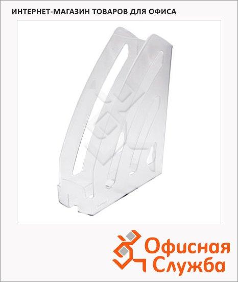 фото: Накопитель вертикальный для бумаг Оскол-Пласт Элегант А4 87мм, серый, 9044
