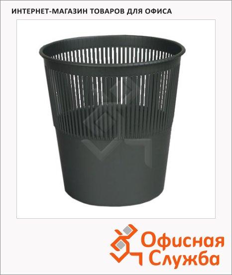 фото: Корзина для бумаг Оскол-Пласт 10л сетчатая, черная, К10ч