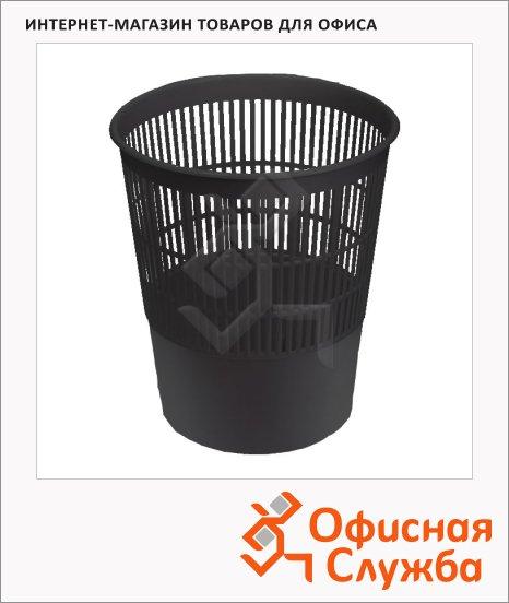 Корзина для бумаг Оскол-Пласт 14л, сетчатая, черная, К14ч