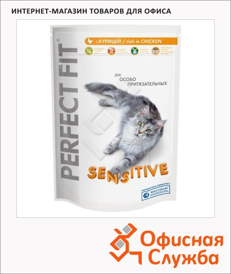фото: Сухой корм для кошек Perfect Fit Sensitive с курицей 190г