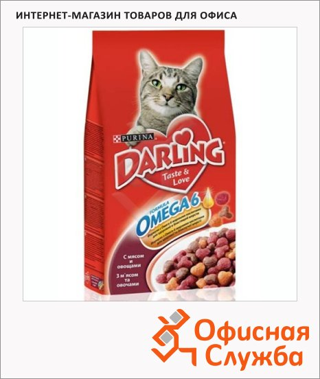 фото: Сухой корм для кошек Darling с мясом и овощами 2кг