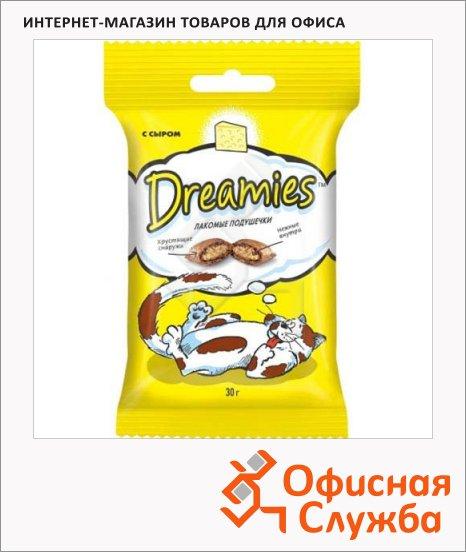 Лакомые подушечки для кошек Dreamies с сыром, 30г