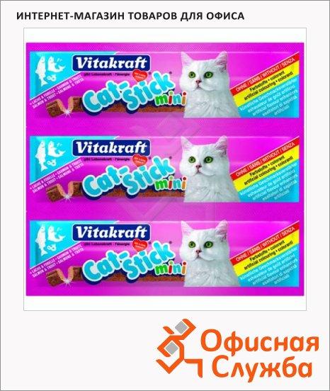 фото: Лакомство для кошек Vitakraft Cat-Stick mini колбаски со вкусом лосося и форели 3х6г
