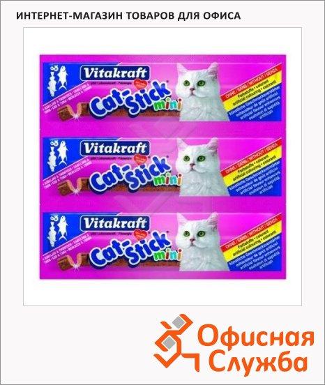 Лакомство для кошек Vitakraft Cat-Stick mini колбаски со вкусом трески и тунца, 3х6г