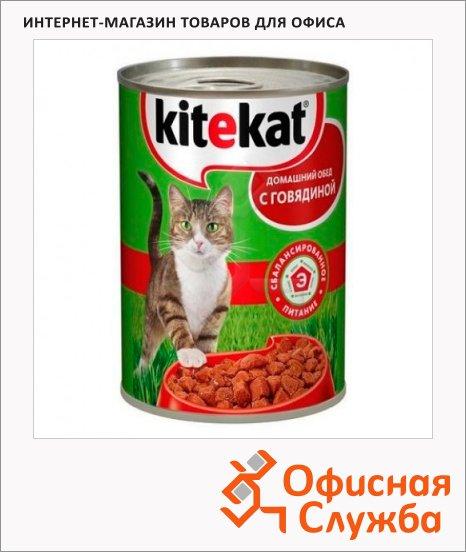 фото: Консервы для кошек Kitekat Домашний обед с говядиной 400г, ж/б