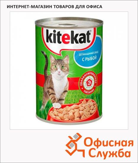 Консервы для кошек Kitekat Домашний обед с рыбой, 400г, ж/б