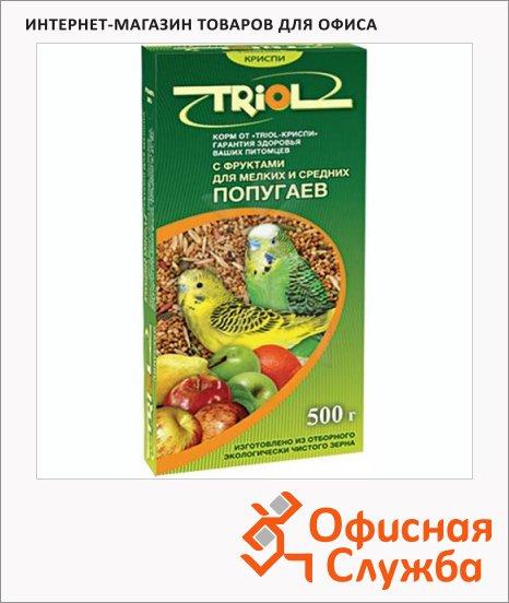 Корм для попугаев Triol для мелких и средних попугаев, с фруктами, 500г