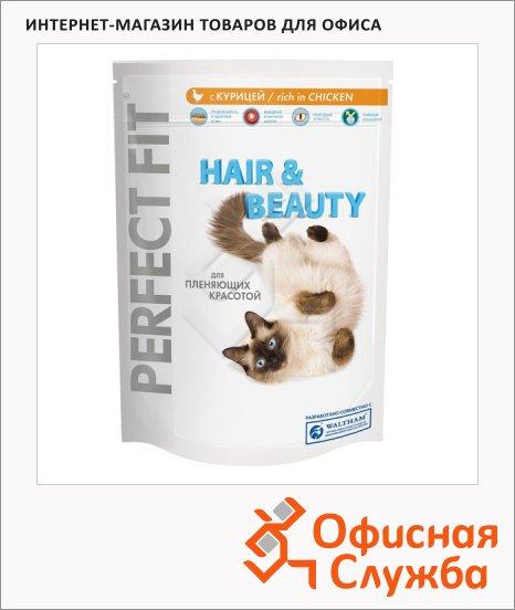 Сухой корм для кошек Perfect Fit Hair&Beauty с курицей, 750г