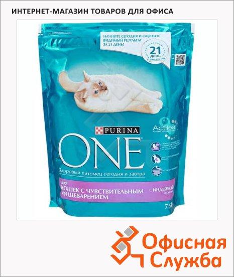 фото: Сухой корм для кошек Purina One с индейкой и рисом 750г
